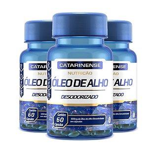 Kit 3 Óleo de Alho Desodorizado Catarinense 60 cápsulas