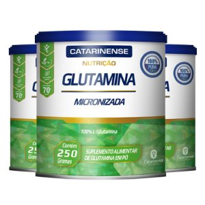 Kit 3 Glutamina Micronizada Catarinense 250g