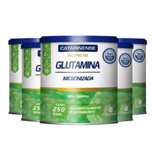 Kit 5 Glutamina Micronizada Catarinense 250g