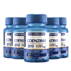 Kit 5 Coenzima Q10 100mg Catarinense 30 cápsulas