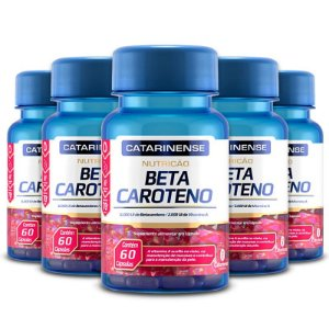 Kit 5 Beta Caroteno Catarinense Pharma 60 cápsulas