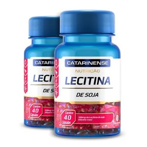 Kit 2 Lecitina de Soja 500mg Catarinense 40 cápsulas