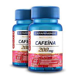 Kit 2 Cafeína 200mg Catarinense Pharma 60 cápsulas
