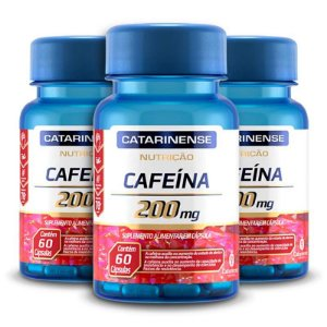 Kit 3 Cafeína 200mg Catarinense Pharma 60 cápsulas