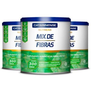 Kit 3 Mix de Fibras Catarinense Pharma 300g Neutro