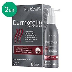 Kit 2 Nuova Dermofolin Loção Capilar 5 em 1 Catarinense 60ml