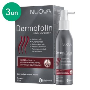 Kit 3 Nuova Dermofolin Loção Capilar 5 em 1 Catarinense 60ml
