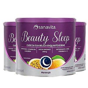 Kit 3 Beauty Sleep Triptofano + B6 e Magnésio Sanavita 300g