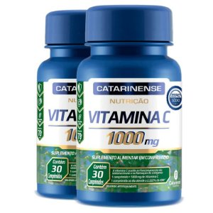 Kit 2 Vitamina C Catarinense 1000mg 30 comprimidos