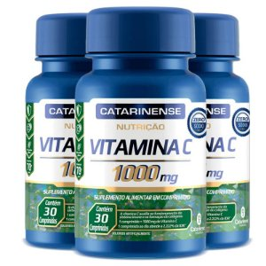 Kit 3 Vitamina C Catarinense 1000mg 30 comprimidos
