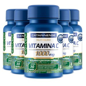 Kit 5 Vitamina C Catarinense 1000mg 30 comprimidos