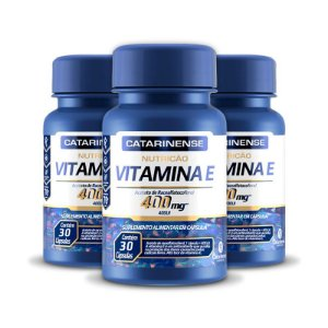 Kit 3 Vitamina E 400mg Catarinense 30 cápsulas