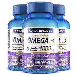 Kit 3 Ômega 3 EPA 540mg DHA 360mg Catarinense 60 cápsulas