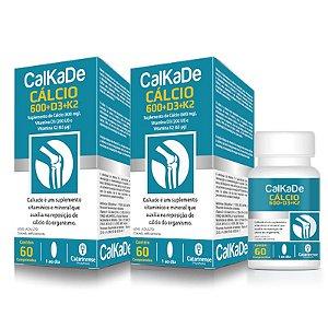 Kit 2 CalkaDe Cálcio + Vitamina D3 + k2 Catarinense 60 Comprimidos