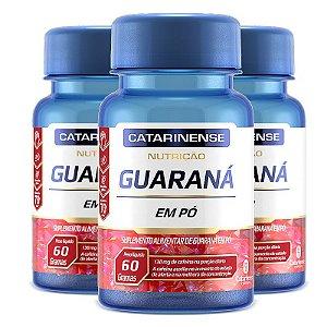 Kit 3 Guaraná Catarinense Pharma 60 comprimidos