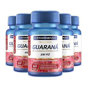 Kit 5 Guaraná Catarinense Pharma 60 comprimidos
