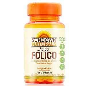 Ácido Fólico 400mcg  Vitamina B9 Sundown 350 comprimidos