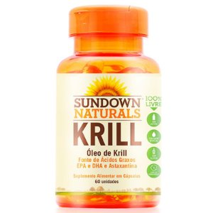 Óleo de Krill 1000mg Sundown Naturals 60 cápsulas
