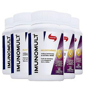 Kit 5 Imunomult Multivitamínico Vitafor 60 cápsulas