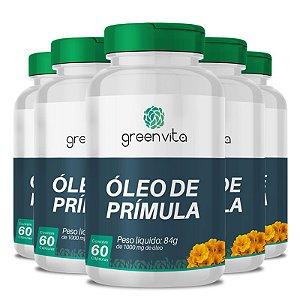 Kit 5 Óleo de Prímula 1000mg Greenvita 60 cápsulas