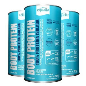 Kit 3 Body Protein Equaliv 450g Neutro