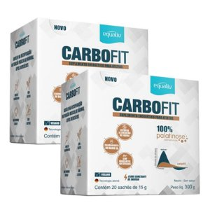 Kit 2 Carbofit 100% Palatinose Equaliv 20 saches