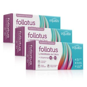 Kit 3 Follatus L- Metilfolato Equaliv 60 cápsulas