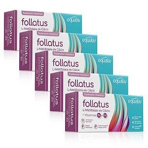 Kit 5 Follatus L- Metilfolato Equaliv 60 cápsulas