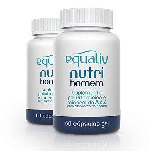 Kit 2 Nutri Homem Polivitamínico de A a Z Equaliv 60 cápsulas gel