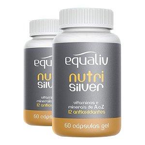 Kit 2 Nutri Silver Polivitamínico de A a Z Equaliv 60 cápsulas gel