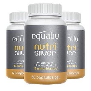 Kit 3 Nutri Silver Polivitamínico de A a Z Equaliv 60 cápsulas gel
