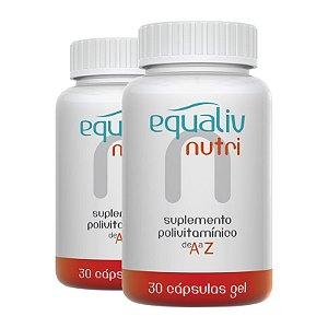 Kit 2 Nutri Imunidade A a Z Equaliv 30 cápsulas gel
