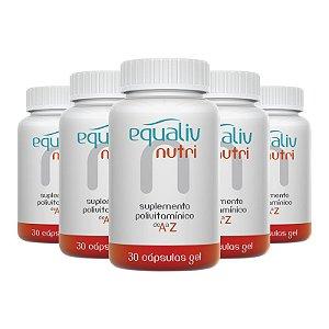 Kit 5 Nutri Imunidade A a Z Equaliv 30 cápsulas gel