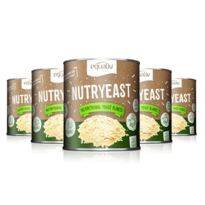 Kit 5 Nutryeast Nutritional Yeast Flakes Equaliv 180g