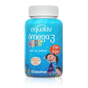 Ômega 3 Pro Kids Equaliv 60 cápsulas Sabor Laranja