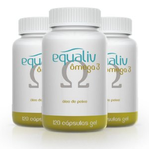 Kit 3 Ômega 3 1000mg Equaliv 120 cápsulas gel