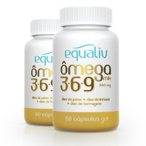 Kit 2 Ômega 3 Mix 3-6-9 1000mg Equaliv 60 cápsulas