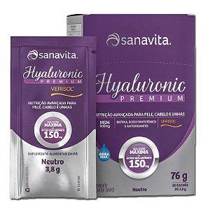 Hyaluronic Premium Ácido Hialurônico + Verisol Sanavita 20 Sachês Neutro