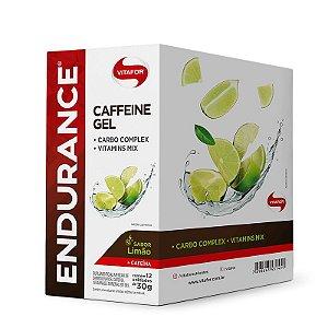 Endurance Caffeine Gel Vitafor Caixa 12 sachês Limão