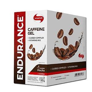 Endurance Caffeine Gel Vitafor Caixa 12 sachês Mocha
