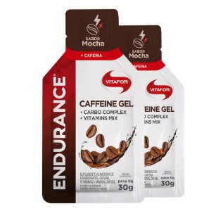 Kit 2 Endurance Caffeine Gel Vitafor Caixa 12 sachês Mocha