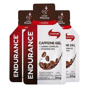 Kit 3 Endurance Caffeine Gel Vitafor Caixa 12 sachês Mocha