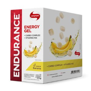 Endurance Energy Gel Vitafor Caixa 12 sachês Banana