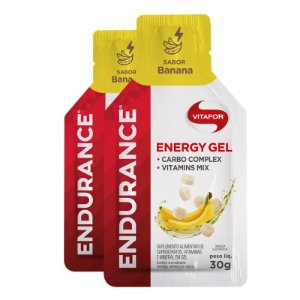 Kit 2 Endurance Energy Gel Vitafor Caixa 12 sachês Banana