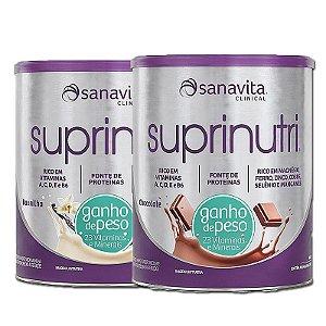 Kit 2 Suprinutri Ganho de Peso Sanavita 400g Baunilha + Chocolate