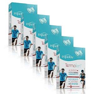 Kit 5 Termolen Cafeína Equaliv 62 cápsulas gelatinosas