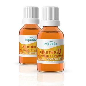 Kit 2 Vitamina D 200ui em Gotas Equaliv 30ml