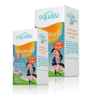 Kit 2 Vitamina D 200ui Kids Equaliv 20ml em Gotas