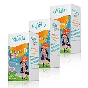 Kit 3 Vitamina D 200ui Kids Equaliv 20ml em Gotas