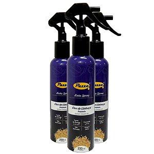Kit 3 Óleo de Linhaça Dourada Spray Pazze 200ml